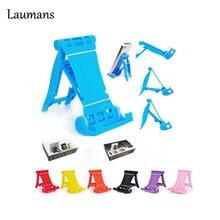 Laumans Mini Universal Adjustable Foldable Cell Phone Tablet Desk Stand Holder Smartphone Mobile Phone Bracket for