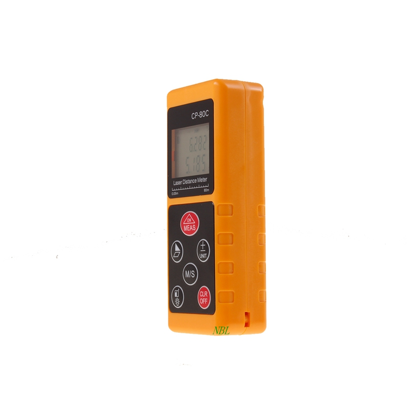 80M 262ft Mini Digital Laser Distance Meter Telemeter Convenient Rapid Range Finder  Bubble Level Tool CP-80C Free Shipping  цены