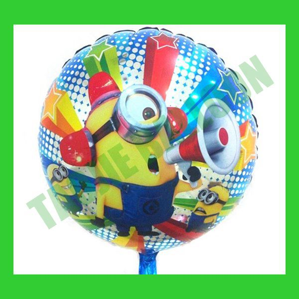 18inches Despicable Me Minion Balloons,Free Shipping 50