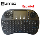 SUNNZO Spanish/English Mini Wireless Keyboard Air Mouse USB Keyboard Remote Control Touchpad For Android TV Box A95X X96 mini