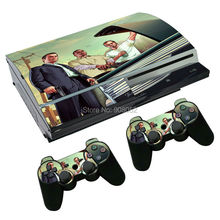 1 Set Skins For play station 3 Fat Sticker Decal Cover + 2 Controller Sticker For PS3 Accessories