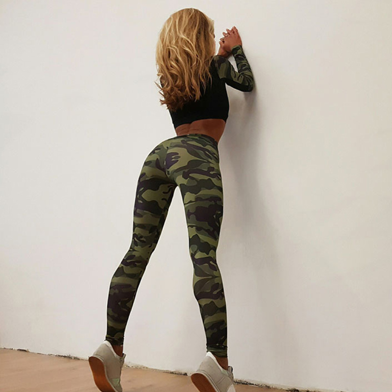 Gym Fitness Tight Women Camouflage Tracksuit