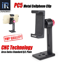 INNOREL PC5 Metalen Mobiel Clip Aluminiumlegering Smartphone Houder Statief 360 Verstelbare Mobiele Telefoon Klem