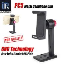 PC5 INNOREL מתכת נייד בעל טלפון חכם קליפ סגסוגת אלומיניום חצובה הר מהדק טלפון נייד 360 מתכווננת