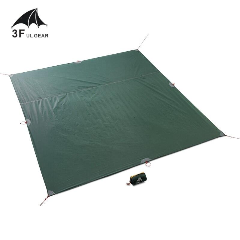 3F UL engranaje tienda ahorrador de suelo reforzado multiusos carpa huella camping playa picnic impermeable Tarpaulin Bay Play