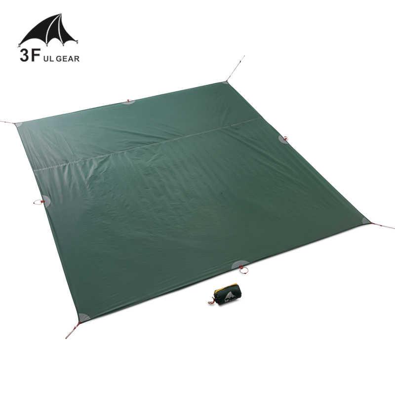 3f ul engrenagem barraca de chão reforçada, multiuso, de lona, tenda de pegada, camping, praia, piquenique, à prova d' água, tarpaulin play