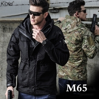 M65 UK US Tactical Jackets Men Autumn Flight Pilot Coat Army Clothes Casual Hoodie Military Field Jackets Windbreaker Waterproof