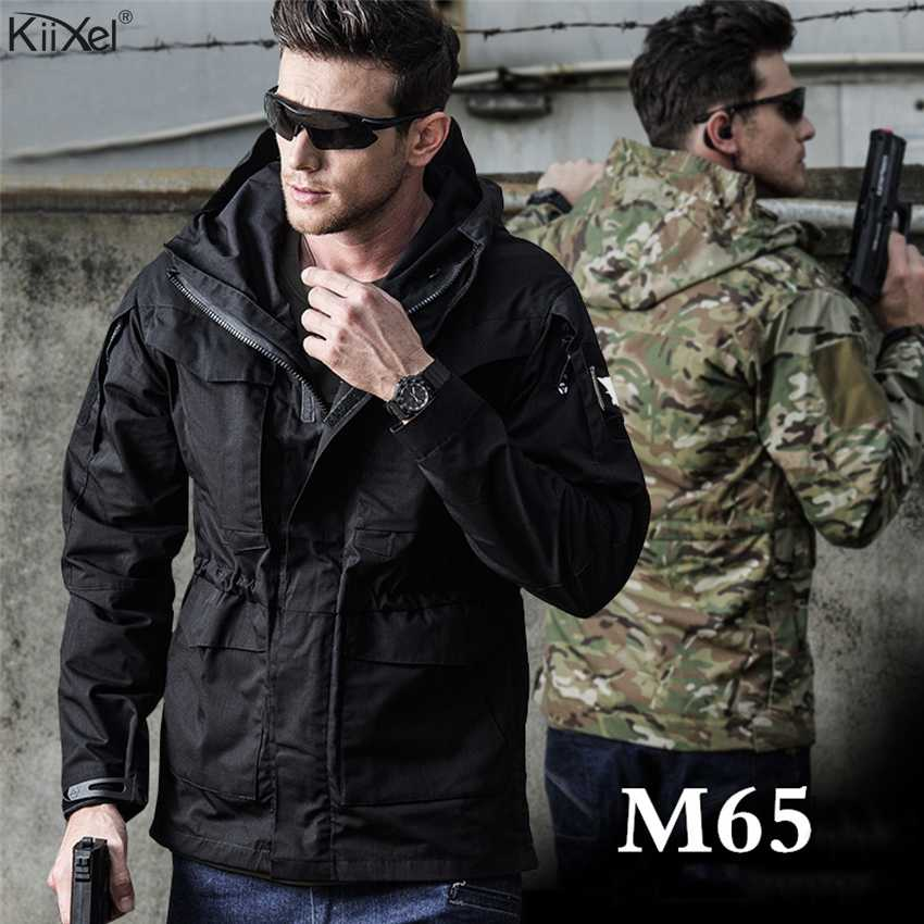 "M65 בריטניה ארה""ב טקטי מעילי גברים סתיו טיסה טייס מעיל צבא בגדים מזדמנים הסווטשרט צבאי שדה מעילי מעיל רוח עמיד למים"