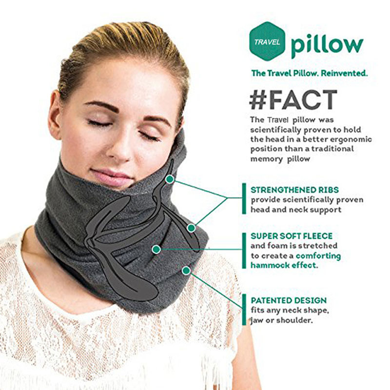 Travel body ultra soft neck support pillow cervical pillow nap neck massage care health