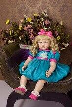Горячие Продажа 55 см Силиконовые Винил Возрождается Кукла Реалистичные Малыша Кукла Девочек Brinquedos Лучший Подарок На День Рождения Куклы Играть игрушки