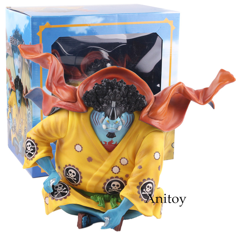 Anime One Piece Figure One Piece Jinbe Sitting Ver. PVC Statue Figure Collectible Model Toy 11 statueone piece seven warlords of the sea sitting jinbe bust gk action figure collectible model toy box d621