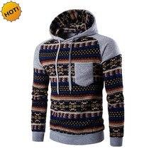 HOT 2016 indoor Autumn winter national wind casual sweatshirt patchwork City warm thelmal mens hoodies hip hop tracksuit hombre