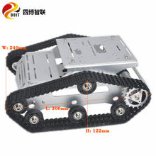 SZDOIT Unassembled YP100 Metal Tank Chassis Kit Multifunction Tracked Crawler Robot Platform Motor DIY For Arduino Competition цена 2017