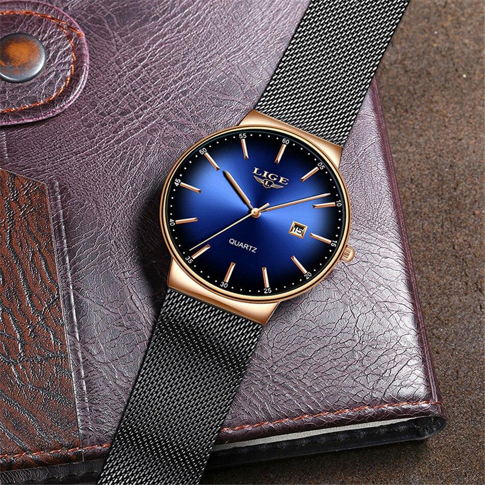 HTB1e07mQNTpK1RjSZFMq6zG VXaO LIGE New Mens Watches Top Brand Luxury Fashion Mesh Belt Watch Men Waterproof Wrist Watch Analog Quartz Clock erkek kol saati