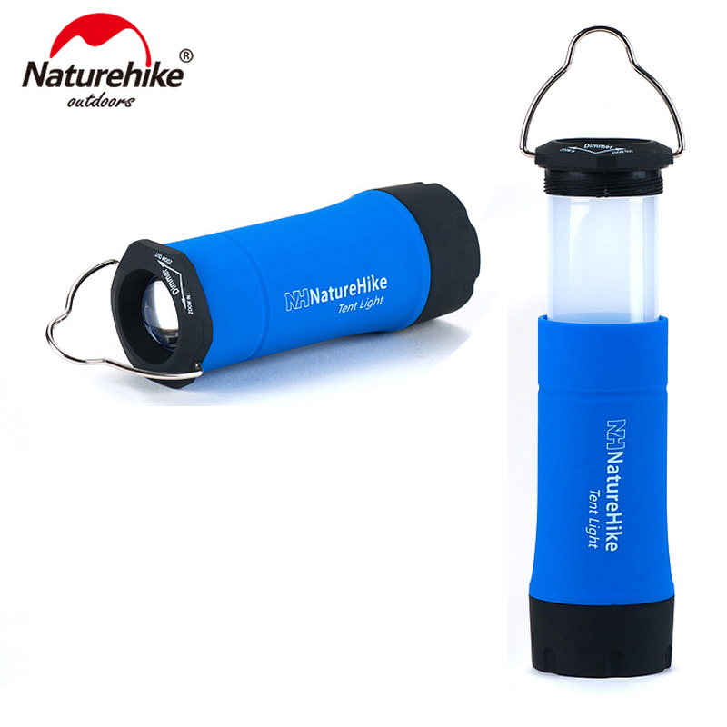 Naturehike Portable Mini CREE R2 LED Zoomable Flashing Camping Lantern Outdoor LED Tent Light Lamp With 3 Working Modes