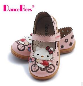 2016 new brand Fashion children girls hello kitty princess patent leather shoes kids Single shoes
