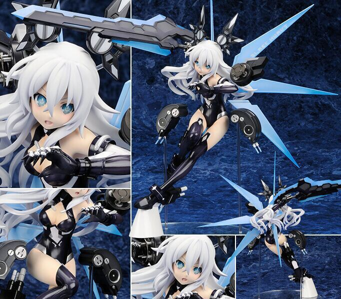 24cm Hyperdimension Neptunia Lastation Noire Action Figures Anime Black Heart PVC brinquedos Collection Model Toys nendoroid kill la kill matoi ryuuko 407 action figures anime pvc brinquedos collection model toys with retail box free shipping