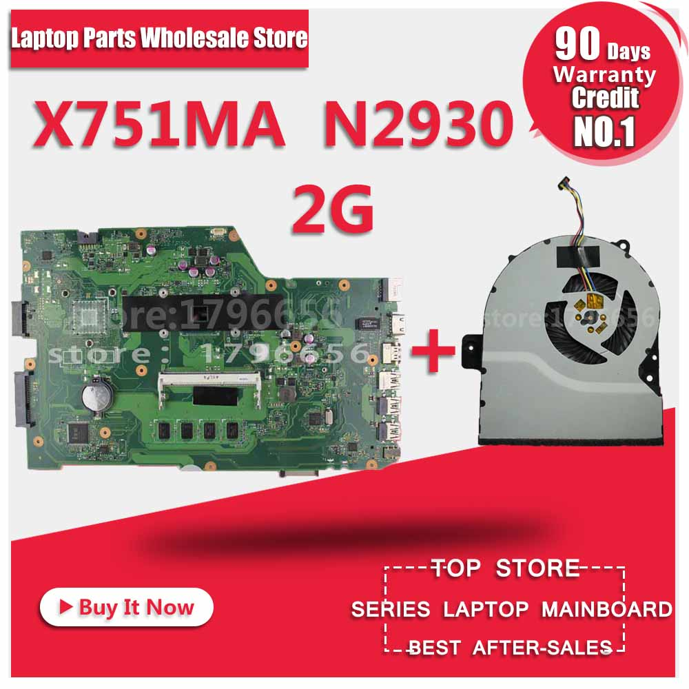 K751M K751MA X752M R752MA X751MA Motherboard For Asus N2930 Processor X751MD REV2.0 Mainboard Tested ok for asus x751ma motherboard x751md rev2 0 mainboard processor n3530u 2g memory on board fully tested