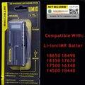 Original Nitecore UM10 Digicharger Display LCD Cargador de Batería Universal Inteligente de Alimentación USB Para Li-ion Del Envío epacket a RU