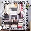 Водостойкая ткань Оксфорд многоцелевая одежда шкаф для хранения одежды DIY сборка усиленный складной шкаф для хранения мебели