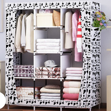 Waterproof Oxford Cloth Multi purpose Clothing Storage Cabinet Wardrobe DIY Assembly Reinforced Folding Storage Closet Furniture