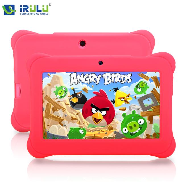 Irulu 7 polegada 1024*600 hd pc tablet para crianças android 4.4 quad core 1g ram + 8g rom wifi g-sensor da câmera dupla