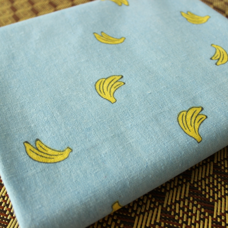 Apprehensive 50x150cm Blue Banana Cotton Fabric Table Cloth Diy Handmade Sewing Pillow Cover Patchwork Sofa Curtain Tablecloth Decoration Apparel Sewing & Fabric
