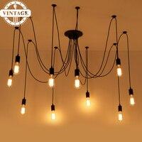 New Transformable Hanging Lustre Luminaria Attic DIY ClassicPendant Lights Modern Spider Lamp for Living/Restaurant Room