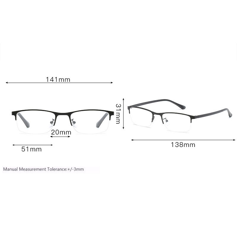 Image 2 - Optical Eyeglasses Half Rim Eyeglasses Non Spherical 12 Layers Coated Lenses Reading Glasses+1.0 +1.5 +2.0 +2.5 +3.0 +3.5+4.0-in Women's Reading Glasses from Apparel Accessories