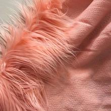 Тяжеловесный 11 см длинный искусственный Тибетский овечий мех ткань для пальто DIY аксессуары Топ окрашенный меланжевый пушистый мех tissu stofffens width170cm