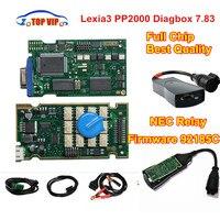 + + איכות שבב מלא PP2000 Lexia3 FW 921815C קצה זהב NEC ממסר diagbox 7.83 קצים 3 PP2000 OBD2 אוטומטי כלי אבחון-סורק