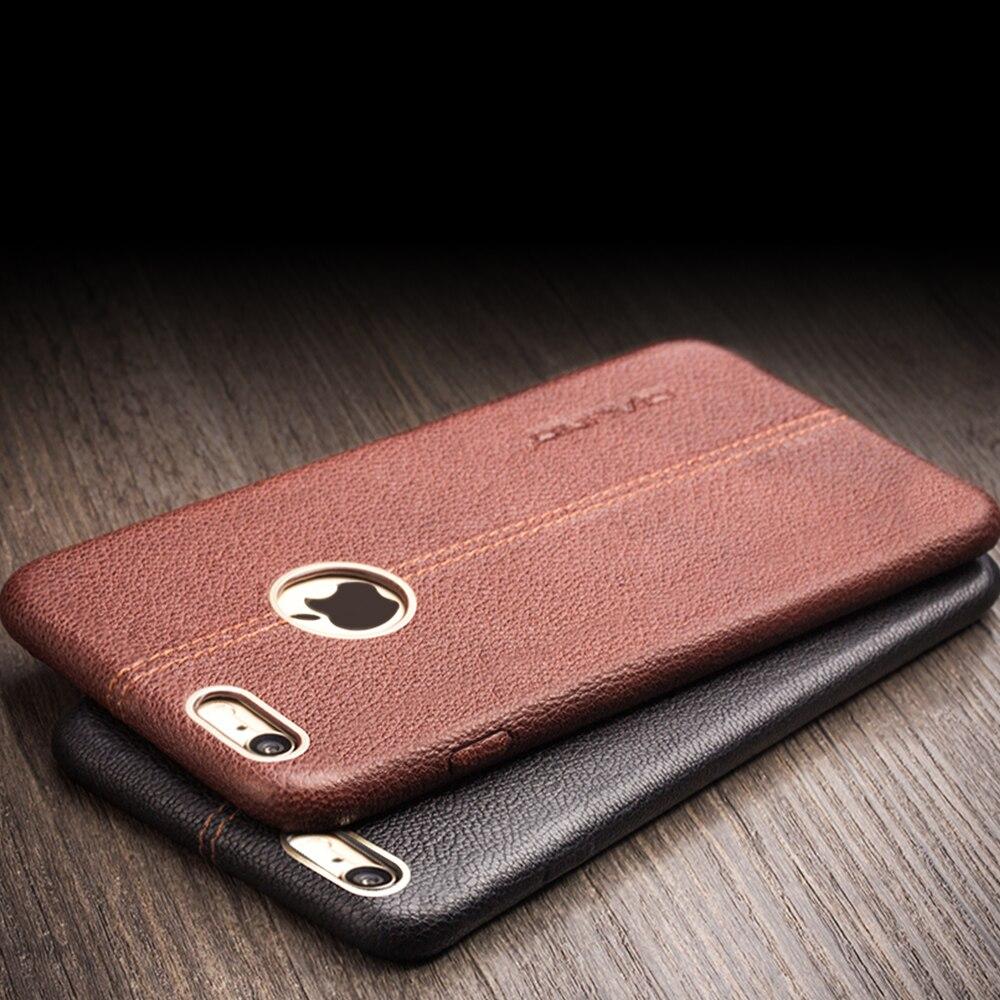 imágenes para Qialino genuino caso de cuero para el caso iphone6 para iphone 6 s de moda para iphone6 6 s plus cubierta 4.7/5.5 pulgadas mejor caja del teléfono