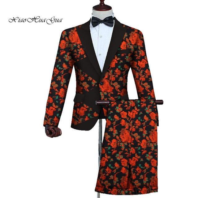 het beste 2 stukken blazer en broek set heren afrikaanse kleding