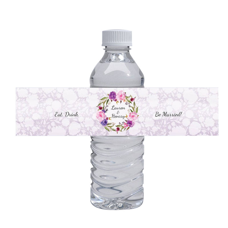 100pcs Personalized Wedding Water Bottle Label Printable Waterproof Label Stickers Custom Birthday Party Bottle Wrappers Labels Party Diy Decorations Aliexpress