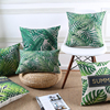 Green Decorative Throw Pillows Cover Summer Jungle Tropical Leaves Green Garden Cushion Cover Home Pillow Case