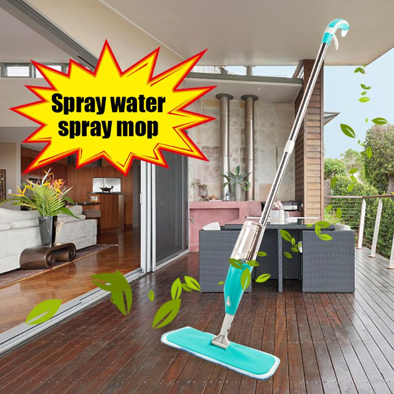 Split Spray Floor Mop: Microfiber Spray Mop Plate Tile Ground Cleaning Mop Home