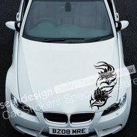 Cool! Flor tótem TT034 Un Auto Car Sticker decal PVC (negro, blanco, rojo, Gris, color de Oro)
