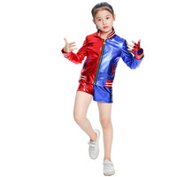 New The embroidery Girls Kids Harley Quinn Costume Cosplay JOKER Suicide Squad Halloween Purim Jacket sets Batman