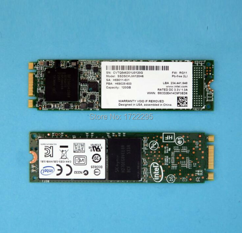 ФОТО Notebook solid state hard disk for Intel M.2 120G NGFF 2280 SSD solid state drive SSDSCKJW120H6