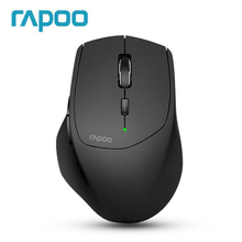 Original Rapoo MT550 Multi mode Wireless Mouse Between Bluetooth 3.0/4.0/Wireless 2.4G For Four Devices Connection Usb Receiver