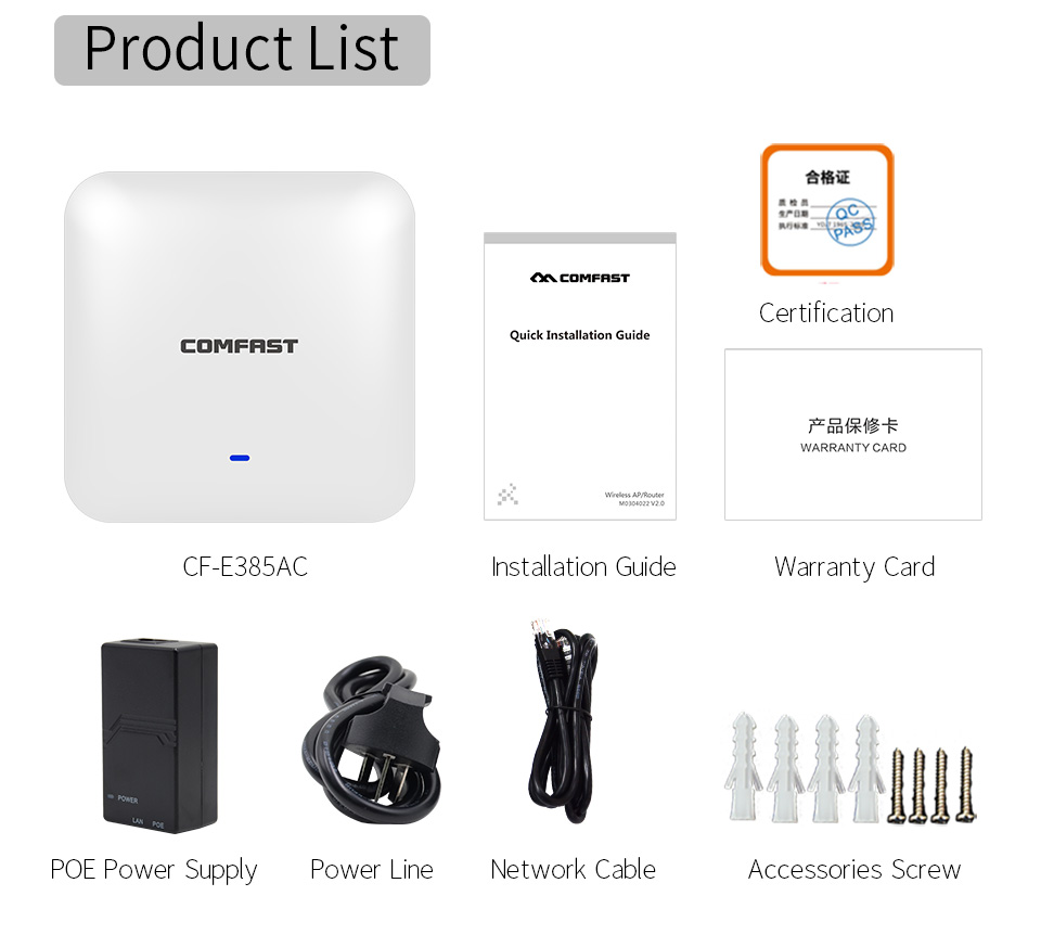 Dual Band 2.4G/5GHz Indoor Ceiling 2200Mbps 11ac Wireless WiFi AP Access Point WiFi Repeater Extender Router with PoE Adapter 1200mbps 2 4g 5 8g dual band 802 11ac indoor ceiling mount access point wifi repeater router 48v poe ap 500mw gigabit management