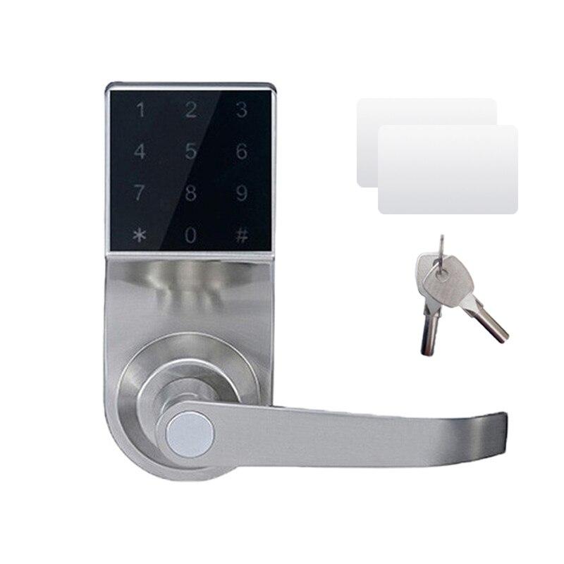 Ospon Os008c Digital Touchscreen Code Door Lock: Touch Screen Keypad Electronic Door Lock Code, 2 ID Cards