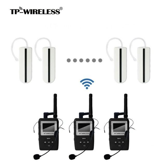 TP-Беспроводной гид Системы UHF Беспроводной синхронного перевода Системы перевод N аудио рожок приемник передатчик 3