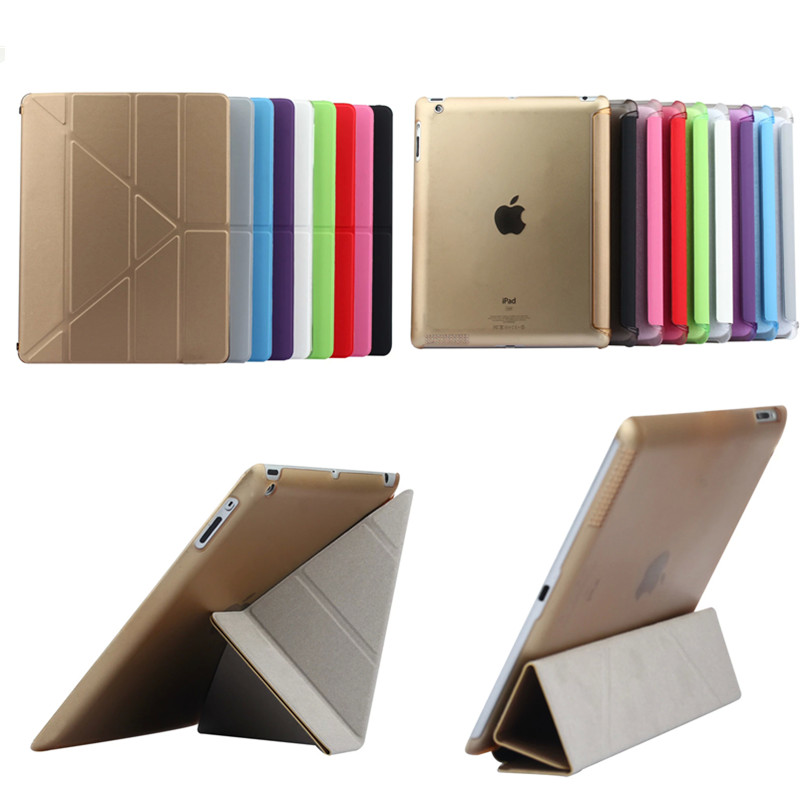 TLP-BX High Quality Tablet Utrathin 4 Shapes Stand Design PU Leather Case for ipad 4 3 2 Smart Cover for iPad4 ipad3 ipad2