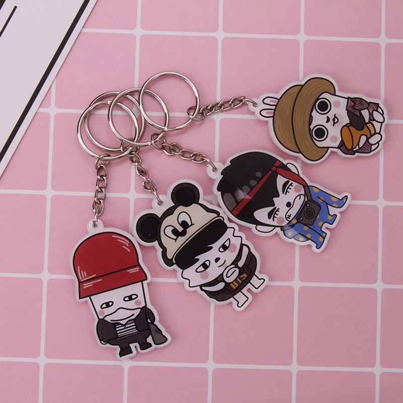 New 1PC Sale Cute Kpop BTS Bangtan Boys Suga Q Edition Acrylic Keychain Keyring Pendant