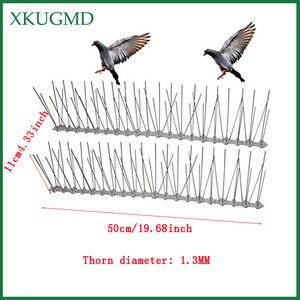 Image 2 - חם 20PCS 10M מטע נירוסטה ציפור הוכחה מחט חיצוני התקנה ציפור Repeller וילה מותקנים במרחק ציפור מכשיר