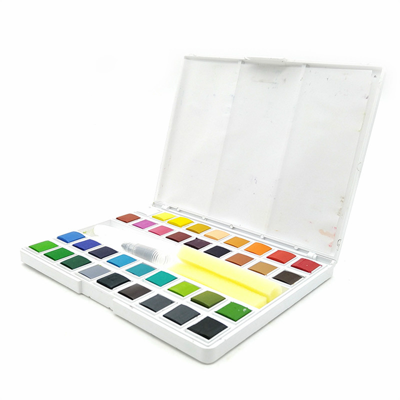 Ensemble de peinture aquarelle 24/36 couleurs solide aquarelle gâteau eau couleur peinture Pigment Acuarelas Profesionales Pigment Art fournitures