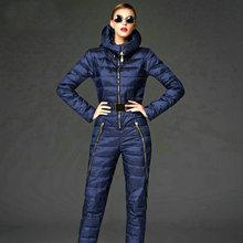 Super fashion! 2016 skinny winter jacket women parka duck down coat hooded skisuit rompers womens jumpsuit doudoune femme coats