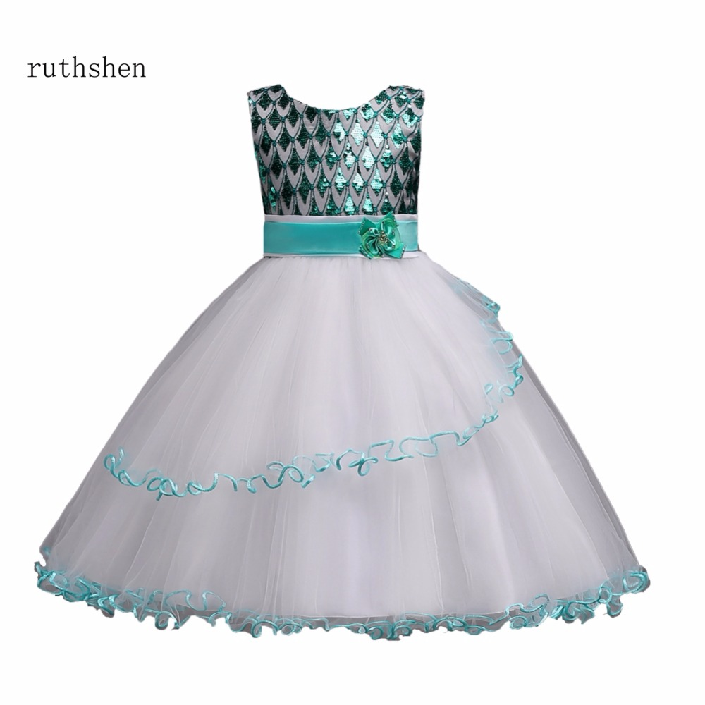 Princess Pretty Baby Color Flower Girls Dresses For Weddings With