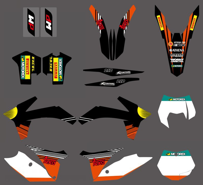 0318   NEW TEAM  GRAPHICS WITH MATCHING BACKGROUNDS FIT FOR  SX SXF 125/150/200/250/350 /450/500 2011-2012  0322 star new team graphics with matching backgrounds fit for ktm sx sxf 125 150 200 250 350 450 500 2011 2012